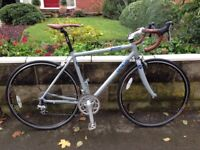 Genesis Aether, 54 aluminium frame, Shimano Tiagra shifters and gears