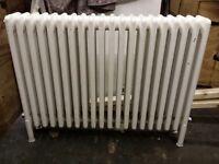 *BARGAIN* 2 white cast iron 4 column hansgrohe radiators. £100 each