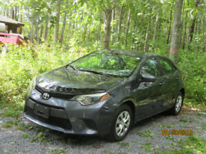2016 Toyota Corolla $17,379 taxes included w/winter tires on rim