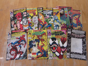 Amazing Spiderman comics lot including first app of Carnage