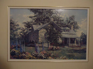 "Kierstead Picture ""Delphiniums"" Framed London Ontario image 1"