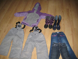 Girl Snowsuit with extra pants, Jeans and boots