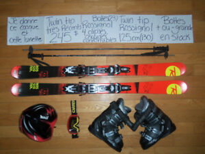 ****KIT TWIN TIP SKI TWIN TIP !! 130, 140, 150, 160 CM****