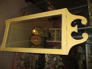 miroir ancien en bois style chippendale, années '50