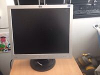 Hp computer 19inch lcd flatscreen only £20 works great ( I'm away till Sunday night )