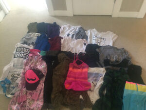 GIRLS SZ 8-10 FULL LOT OF CLOTHING