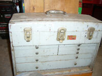 Union Super Steel Toolbox, Antique from 1930