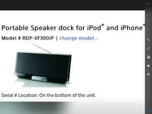 Portable speaker dock for ipod and iphone