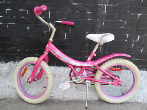 Pink Girls Bike - With Nice White Seat - Lots Of Use Still