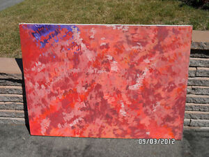 Modern Art painted by owner 1970's - West Island West Island Greater Montréal image 2