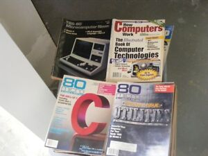 80 Micro Magazines and other assorted books
