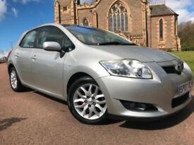 *3 MTHS WARRANTY*2007(07)TOYOTA AURIS 2.0 D4-D DIESEL TR 5DR WITH ONLY 74K*