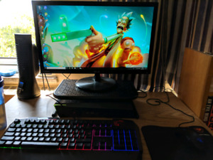 MSI Trident 3 with K/M and monitor asus VP228H