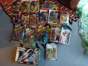 90's starwars ,spawn action figures 17 of them for 200 $$