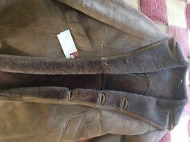 Genuine sheepskin jacket size 38(10-12)