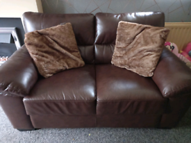 Two Leather Sofas for sale £75 each