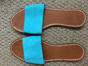 Sandal flip flop shoes blue