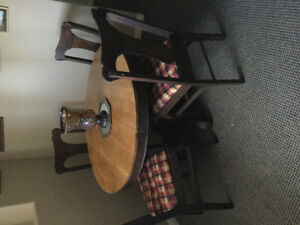 Antique table and chairs - price reduced