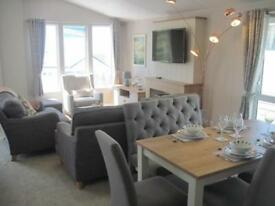 For sale luxury lodge holiday home with decking & seaviews! South Devon