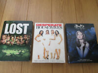 Séries DVD Buffy 1re, Lost 3e, Desperate Housewives 1re Anglais