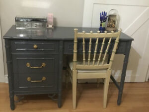 Vintage desk and chair
