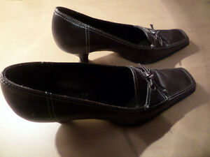 Franco Sarto Size 6.5 M Women's Leather Made in Brazil Heels