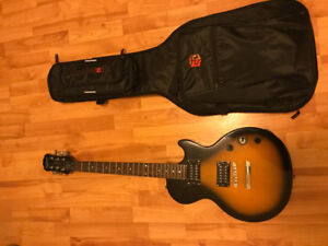 Epiphone Les Paul Special II with Marshall MP15 amp