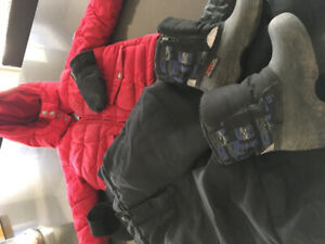 3T winter jackets, snow pants and boots