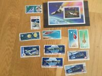Lot of space exploration related stamps collection