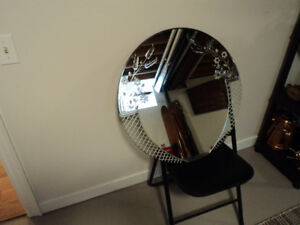 Vintage Cut Glass Mirror