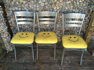 Steel Smiley Faces Chairs Kawartha Lakes Peterborough Area image 1