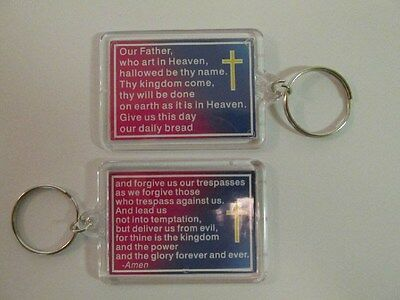 12 LORDS PRAYER KEY CHAINS religious keychain bible study VBS Sunday School NICE