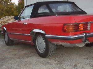 mercedes 450 SL convertible hard and soft top