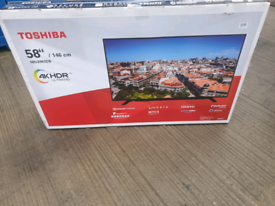 TV 58INCH TOSHIBA SMART WIFI 4K ULTRA HD HDR WITH BLUETOOTH AND Alex