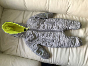 Warm winter baby snowsuit