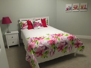 IKEA HEMNES DOUBLE BED FRAME AND MATCHING NIGHTSTAND