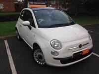 Fiat 500 1.2 ( 69bhp ) Dualogic LOUNGE Hatchback 2012 cream