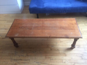Antique Wooden Coffee Table $40
