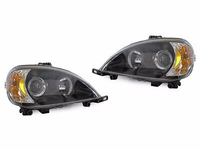 TIFFIN PHAETON 2002 2003 2004 BLACK HEAD LIGHT LAMP HEADLIGHTS RV - SET