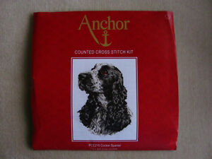 Cocker Spaniel Cross stitch kit