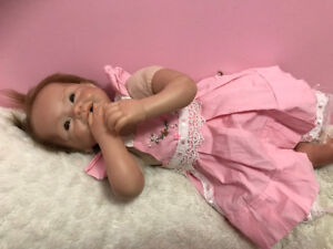 reborn baby girl doll with accessories