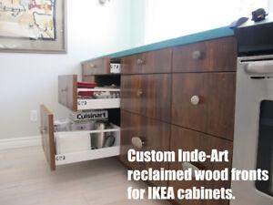 Custom Solid Wood Doors for IKEA Kitchen & Bath Cabinets