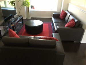 Living Room Set (2 Couches, Ottoman & Rug) *MUST GO ASAP*