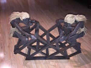 Wooden Tribal Wine Rack