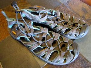Gray/Teal Keen Sandals