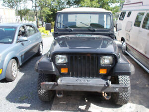 ANTIQUE JEEP WRANGLER 1988  Manual 6 cyl.