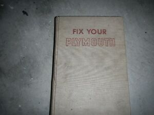 FIX YOUR PLYMOUTH BOOK Peterborough Peterborough Area image 1