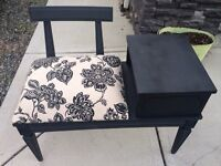 Vintage refinished telephone table-Reduced!