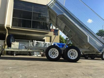10x6 3.5 Ton Fully Hot Dipped Galvanized Hydraulic Tipper Trailer Browns Plains Logan Area Preview