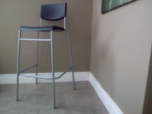 Bar or kitchen island stool with back rest
